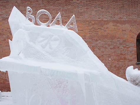 санкт-петербург ледяные скульптуры петропавловская крепость